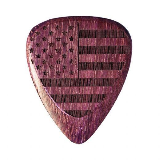 Flag Tones Stars & Stripes Purple Heart 1 Guitar Pick